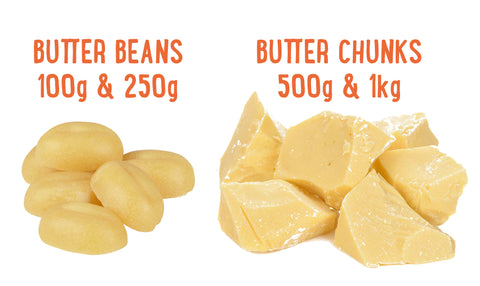 Cacao Butter Beans and Chunks