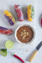 Cacao Peanut Satay (Served with Rainbow Rice Paper Rolls)
