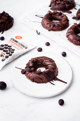No Bake Sweet Cinnamon Chocolate Plantain Doughnuts