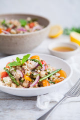 Spring Tabbouleh Salad with Pan Fried Asparagus