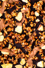 Toffee Apple Popcorn Chocolate Bark