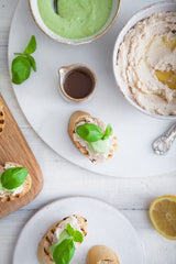 White Bean Crostini with Garlic Basil Sauce 3