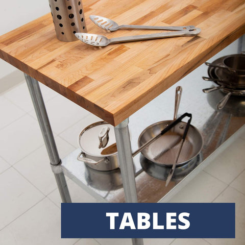 Baking and Stainless Steel Tables
