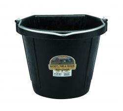 Flat Back Bucket, 20Qt (Assorted Colors Available)