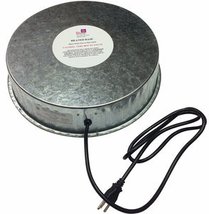 Heated Galvanized Watering Base for Poultry
