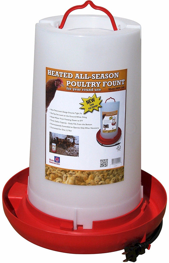 3 Gallon Heated Waterer