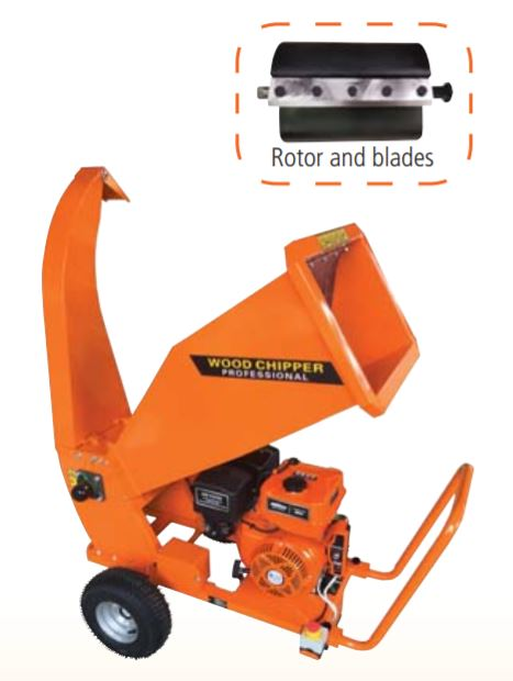 Ducar Wood Chipper B1500E - Electric Start