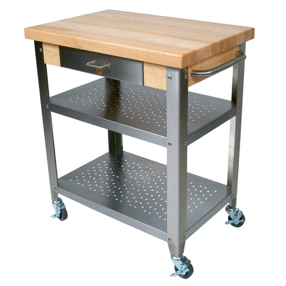 John Boos Cucina Elegante - Maple Top Kitchen Cart