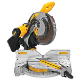 DEWALT DWS716 15 AMP 12 IN. ELECTRIC DOUBLE-BEVEL COMPOUND MITRE SAW COMPLETE WITH STAND