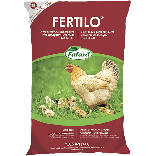 Fafard Fertilo Composted Chicken Manure - CERTIFIED ORGANIC - 30L - 13.5KG