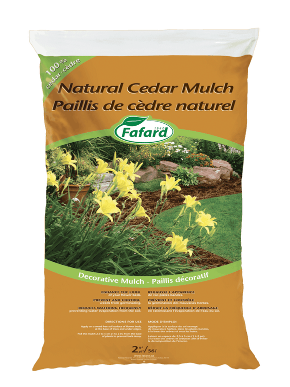 Fafard Cedar Mulch - Natural - 85L - 3 Cu Ft