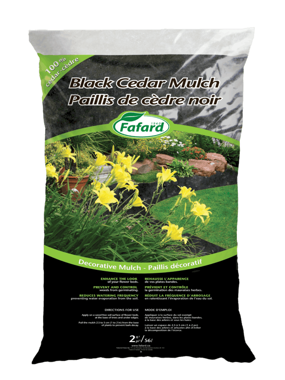 Fafard Cedar Mulch - Black - 85L - 3 Cu Ft