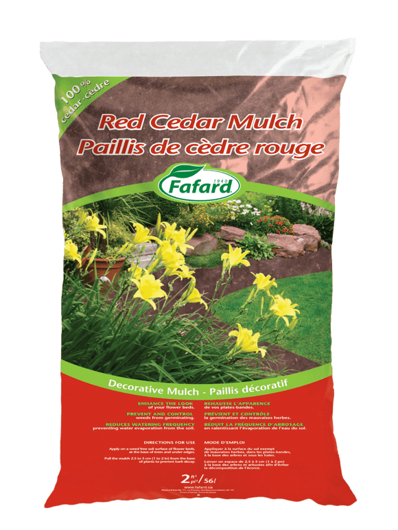 Fafard Cedar Mulch - Red - 85L - 3 Cu Ft
