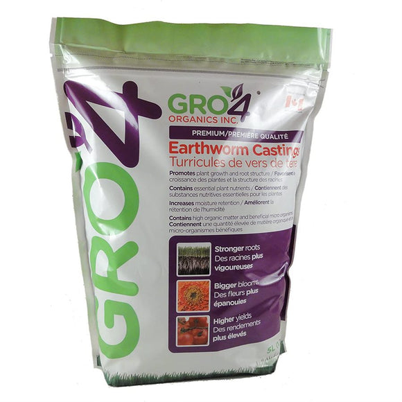 Gro4 Premium Earthworm Castings - Assorted sizes available