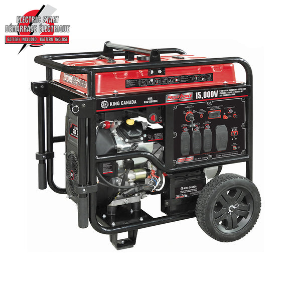 King Canada 15,000W V-TWIN GASOLINE GENERATOR WITH ELECTRIC START