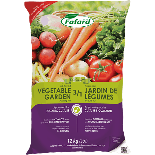 Fafard 3-in-1 Vegetable Garden Mix - 30L/12kg - CERTIFIED ORGANIC