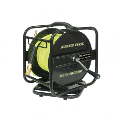 King Canada 100ft Manual Air Hose Reel with Hybrid Polymer Air Hose