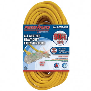 King Canada 50ft Triple Tap Extension Cord - All Weather Proof