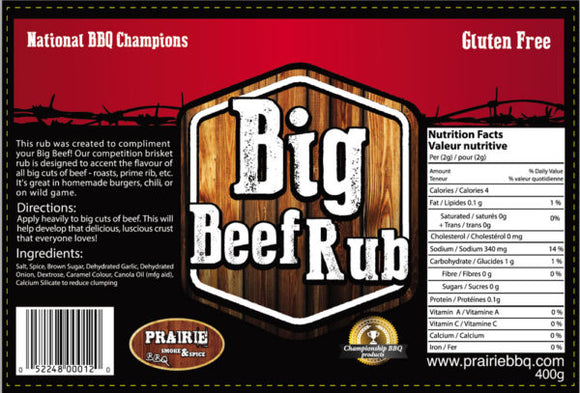 Big Beef Rub - Prairie Smoke and Spice - 330g