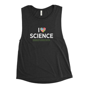 Ladies' I ♥ Science Flowy Tank