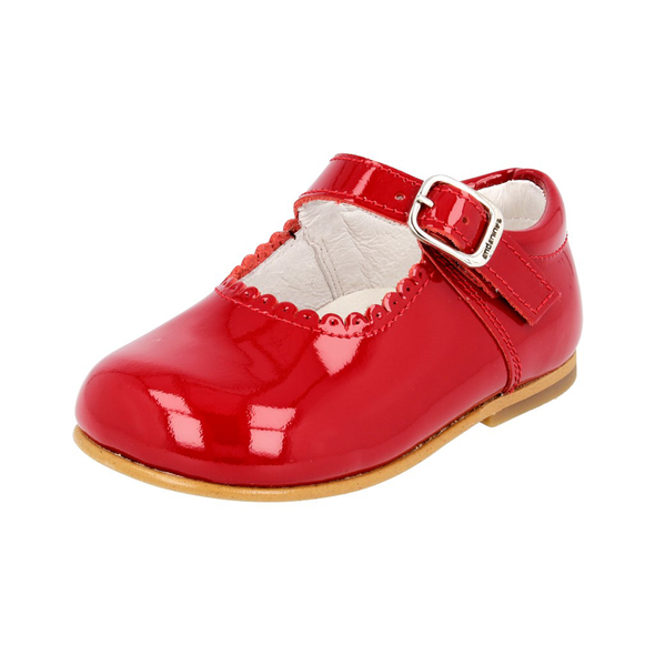 Girls Andanines Red Patent Mary Jane Shoes 846/803R