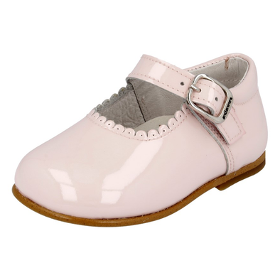 Girls Andanines Pink Patent Mary Jane Shoes