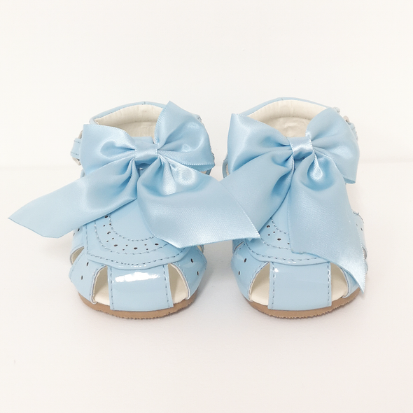Girls Blue Bow Sandals