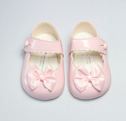 Pink Bow Soft Sole Shoes