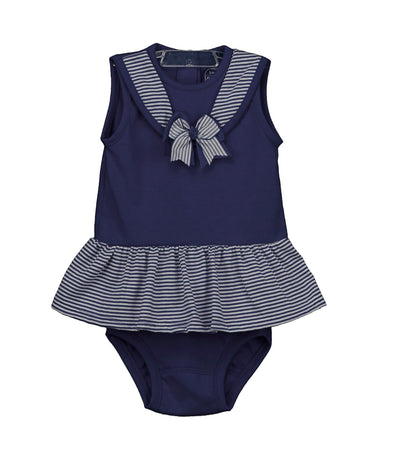 Rapife Navy And White Stripe Nautical Dress And Knickers 4915S20