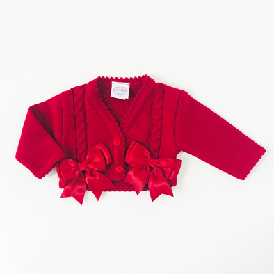 Red Bow Cardigan