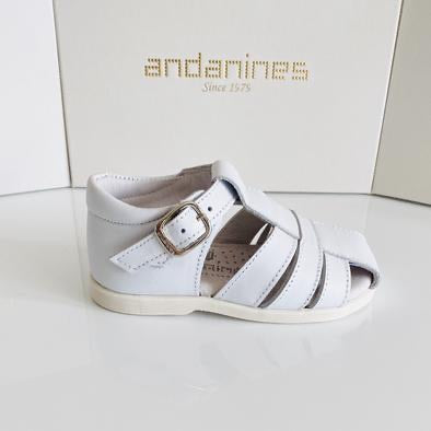Andanines White Leather Sandals 201813