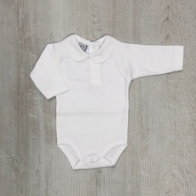 Babidu White Long Sleeve Bodysuit