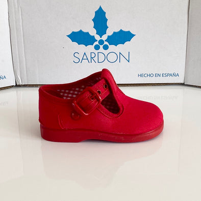 Sardon Red Canvas Shoes 20AR952