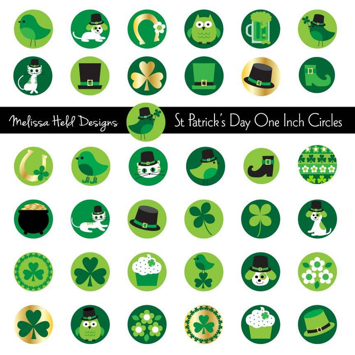 Saint Patrick's Day One Inch Circles Cliparts Melissa Held Designs    Mygrafico