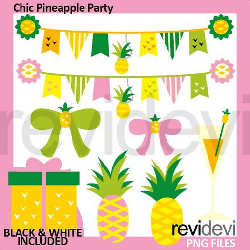 Chic Pineapple Party Cliparts Revidevi    Mygrafico