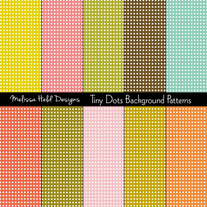 Tiny Dots Background Patterns Digital Paper & Backgrounds Melissa Held Designs    Mygrafico