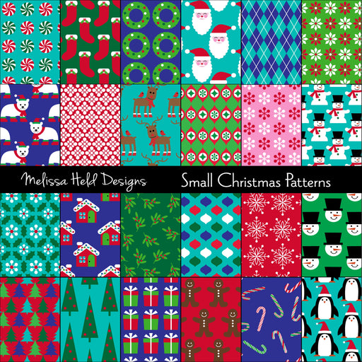 Small Christmas Patterns Digital Paper & Backgrounds Melissa Held Designs    Mygrafico