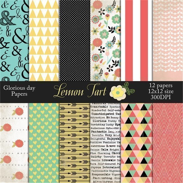 Glorious day papers in antique and vintage designs  Lemon Tart    Mygrafico