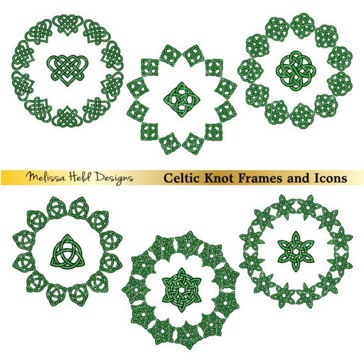 Celtic Frames and Icons Cliparts Melissa Held Designs    Mygrafico