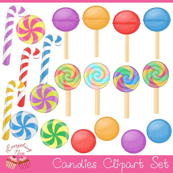 Candies Clipart Set  1 Everything Nice    Mygrafico