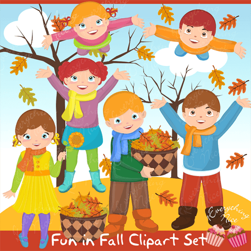 Fun in Fall Clipart Set  1 Everything Nice    Mygrafico