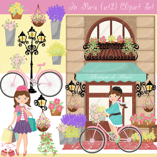 In Paris Set2 Clipart Set  1 Everything Nice    Mygrafico