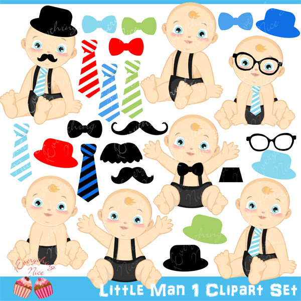 Little Man Clipart Set  1 Everything Nice    Mygrafico
