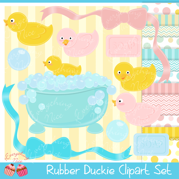 Rubber Duckie Clipart Set  1 Everything Nice    Mygrafico