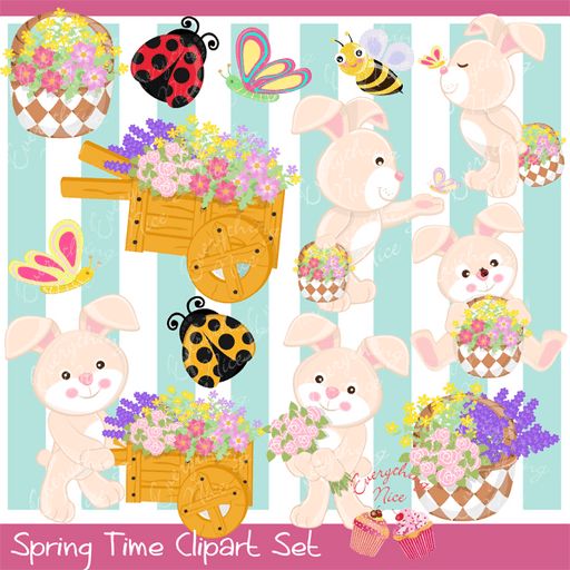 Spring Time Clipart Set  1 Everything Nice    Mygrafico