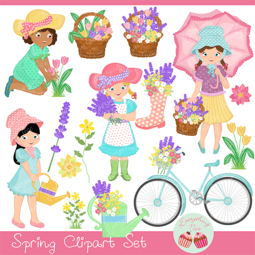 Spring Clipart Set  1 Everything Nice    Mygrafico
