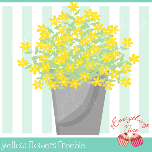Yellow Flowers Freebie Freebie 1 Everything Nice    Mygrafico
