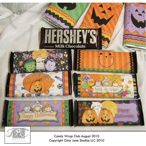 Pumpkin Face Halloween Hershey Candy Wrappers  Gina Jane    Mygrafico