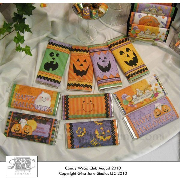 Pumpkin Face Halloween Hershey 4.25oz Candy Wrappers  Gina Jane    Mygrafico