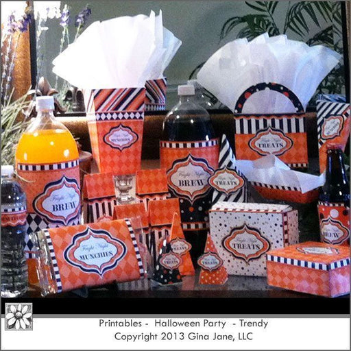 Halloween Trendy Party Printables  Gina Jane    Mygrafico